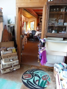 doorway to fiber arts workroom